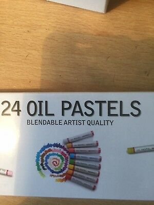24 Oil Pastels...Brand New And Boxed,Unused