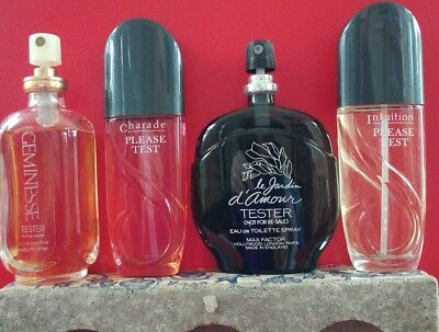 Vintage max factor perfumes ,le Jardin d'amour,Charade,Intuition,Geminesse