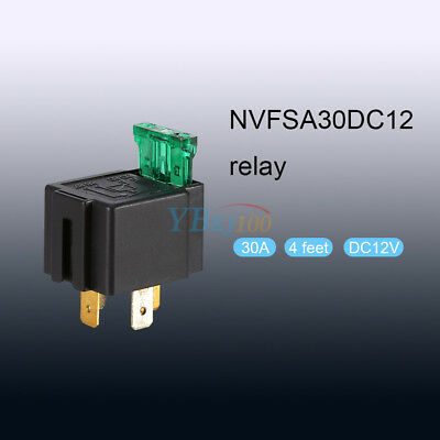 4-Pin 12V 30A Pre-wired Power Relay Mounting Base Socket Holder Break Relay stw