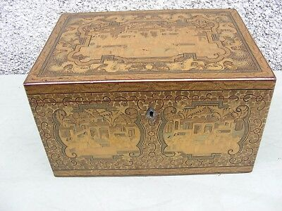 Rare Antique Chinese Large Tea Caddy