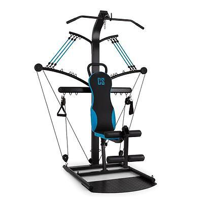 Capital Sports Hawser Cable Trainer For Home Gym Workout Black / Blue Steel