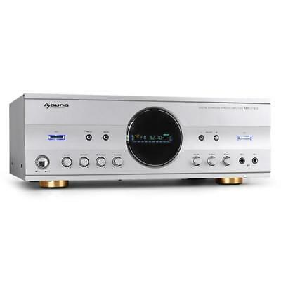 Surround Sound Receiver Karaoke Amplifier 2 Mic In Machine Auna