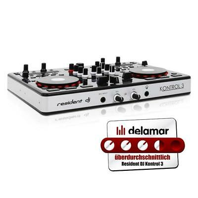 "Usb Midi Dj Deck Controller 24-Bit Sound Card 3.3"" Jog Wheels Scratch Beat-Sync"