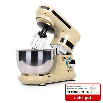 Cream Modern Kitchen Food Prep Mixer Appliance 600W 220Rpm Dough Hook Function