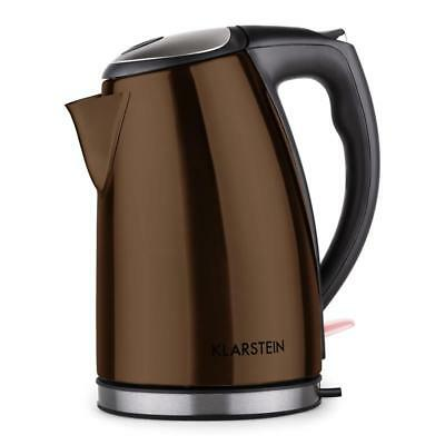 New Stylish Modern Kettle 1.7L 2200W Electric Cordless Jug - Chocolate Brown