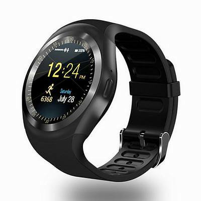 Bluetooth Smart Watch Round Touch Screen Phone Mate SIM For Android Samsung LG