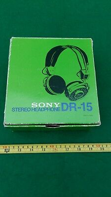 Sony DR-15 Vintage Stereo Headphones - Madei in Japan