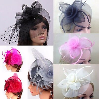 Spring Racing Race Party Melbourne Cup Feather Fascinator Hat Feather Headband