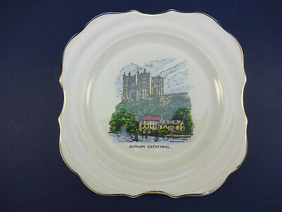 Sandland Ware China Plate: 14.5cm: With Illustrated View of Durham Cathedral