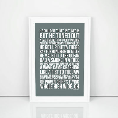Pearl Jam Given To Fly Lyrics Poster Print Song Artwork Typography