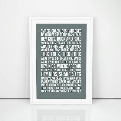 R.E.M. Drive Lyrics Poster Print Song Artwork Memorabilia