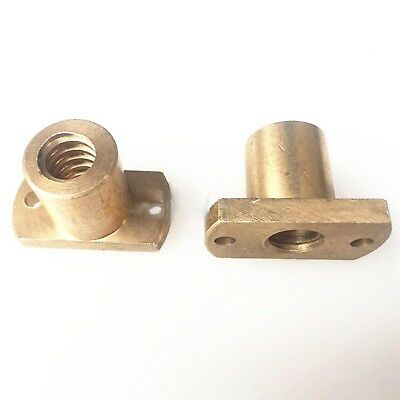T10x2 - T25x5 Right Hand Trimming Flange Trapezoidal Nut Brass for CNC lathe