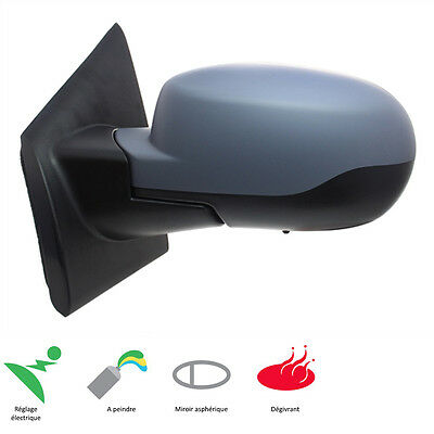 Left Rear View Mirror Electric Defrost Finish Renault Twingo 2 3/2010-11/2014