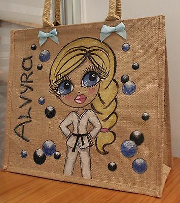 ***Personalized Jute Bag Hand Painted! Unique gift! **Made to order**