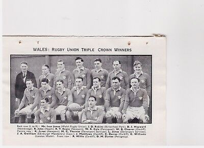 Team Pic from 1950-51 FOOTBALL Annual - WARRINGTON RL + WALES Rugby Union