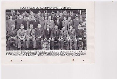 Team Pic from 1950-51 FOOTBALL Annual - AUSTRALIA Rugby League + Nordgreen WIGAN