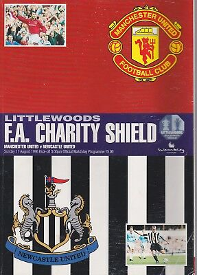 Manchester United V Newcastle United ~ Charity Shield ~ 11 August 1996