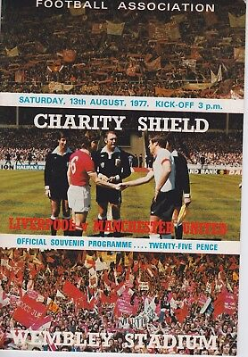LIVERPOOL v MANCHESTER UNITED ~ CHARITY SHIELD ~ 13 AUGUST 1977
