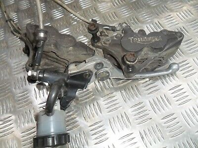 TRIUMPH 955 Sprint ST RS Front Brake assembly Braided Hoses Reservoir Calipers