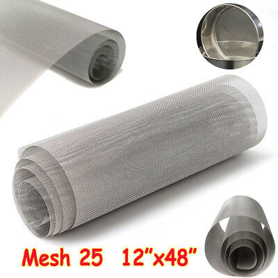 12''x48'' 25 Mesh 316 Stainless Steel Woven Wire Filter Cloth Filtration Screen