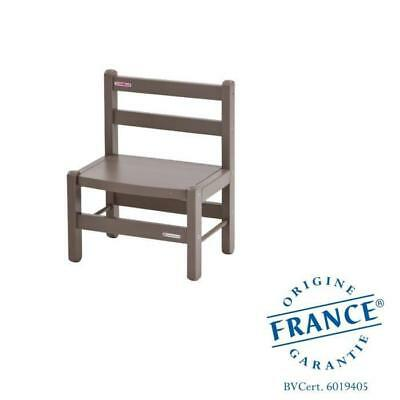 COMBELLE Chaise basse laque taupe