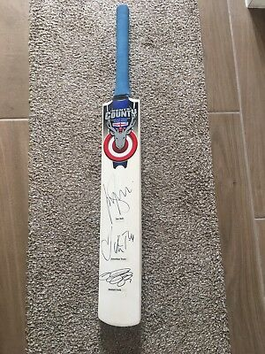 Alistair Cook, Jonathan Trott And Ian Bell Signed Cricket Bat