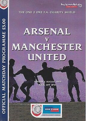ARSENAL v MANCHESTER UNITED  ~ CHARITY SHIELD ~ 1 AUGUST 1999