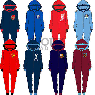 Mens Official Football Club Fleece All In One Jumpsuit Size Medium Large XL