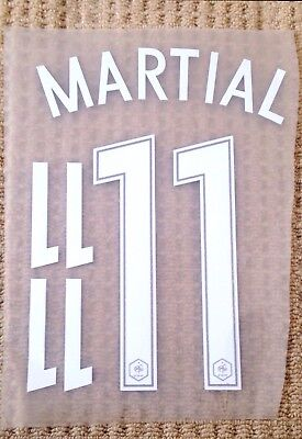 FRANCE Home Shirt 2016-17 MARTIAL#11 Football Name & Number Kit Set