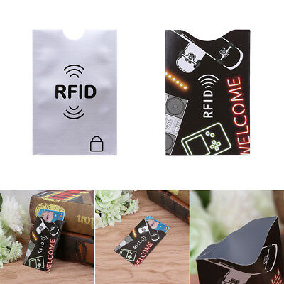 Credit Card Case Cover RFID Shield Protector Holder Secure Case Blocking Sleeve