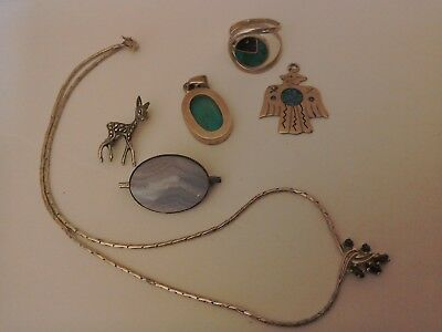 Collection of Silver Jewellery x 6.