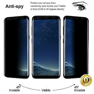 Anti-Spy Temper Glass Privacy Guard Screen Protector For Samsung Galaxy Note8&S8