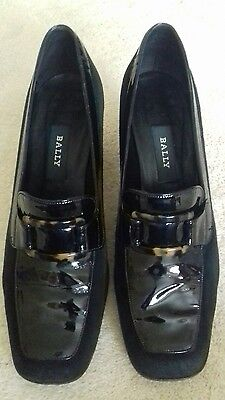BALLY - Vintage Black Suede Shoes - Size 6.5