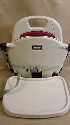 Peg Perego Rialto berry Chair Booster Seats Or Table Hook On Booster Seat *E7*