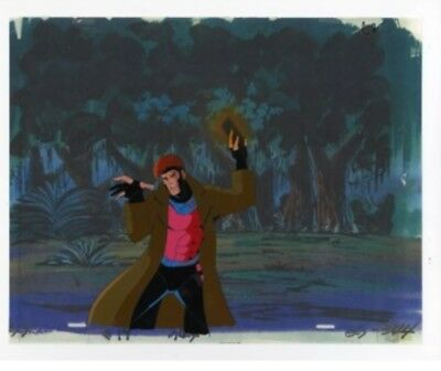 The X-Men Animation Art Cel of Gambit Charging A Card COA