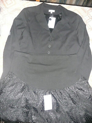 BNWT JoJo Maman Bebe Maternity Tailored Jacket & Lace Skirt Outfit/ Size 16