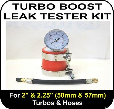 "TURBO BOOST LEAK TESTER Fits 2"" & 2.25"" (51 & 57mm) Turbos Pipes Hose Tool"