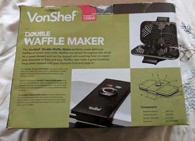 VonShef Double Waffle Maker 1200w