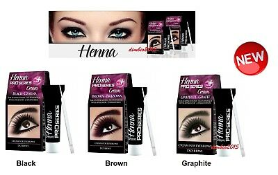 Verona Henna Pro series Plus Cream for Eyebrow Tint Brown,Black,Graphite