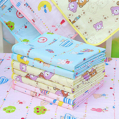 Waterproof Baby Infant Urine Mat Nappy Bed Changing Diaper Pad Washable Cotton