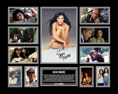 Demi Moore Signed Limited Edition Framed Memorabilia
