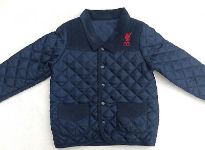 Liverpool FC LFC Boys Quilted Jacket Size 3-4 Years