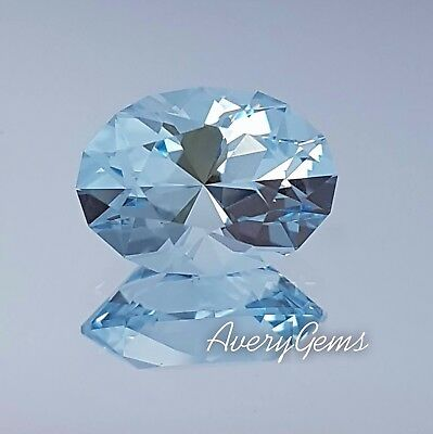 Aquamarine Gemstone 3.2 Ct Precious Gemstone Precision Cut By AveryGems