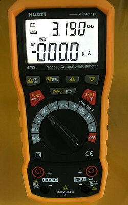 Process Loop Calibrator Current Voltage Frequency Source Output & Multimeter