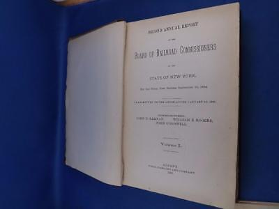 Board Of Railroad Commissioners State New York Second Annual Report 1885 & Map