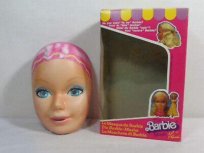 Barbie Vtg 1985 Mask Halloween Prop Italy Made Mip New Htf Rare D