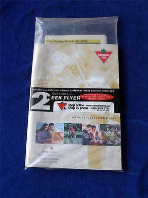1991 Canadian Tire Annual Catalogue Complete W/ Flyers In Sealed Shipping Bag