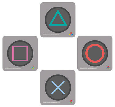 "SONY PLAYSTATION CONTROLLER BUTTONS - 4 PIECE COASTER SET (SIZE: 3.5 x 3.5"")"
