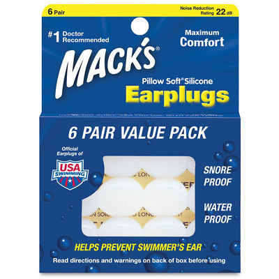 MACK'S SURF - Bouchons d'Oreilles Modulable - 6 PAIRES - Silicone - NEUF