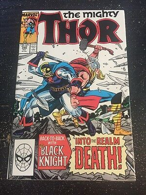 Mighty Thor#396 Incredible Condition 9.2(1988) Black Knight App, Frenz Art!!